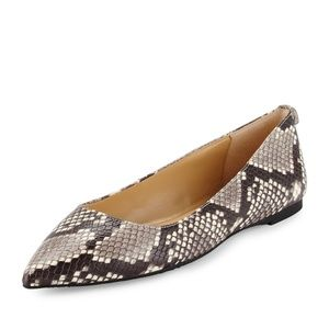 Michael Kors Ariana Snake print Leather flats